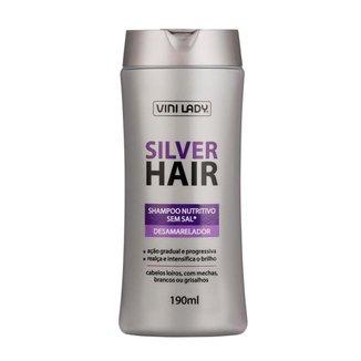 Shampoo Silver Hair Desamarelador 190ml Vini Lady