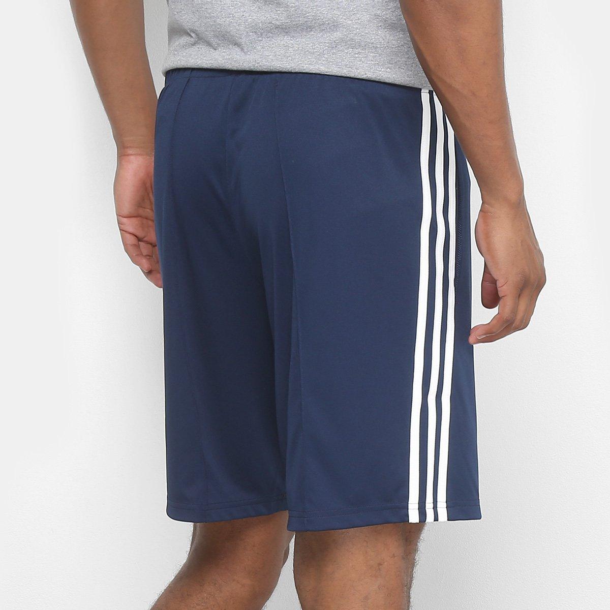 c7b6b14ed Short Adidas 3S Masculino - Marinho e Branco - Compre Agora | Zattini