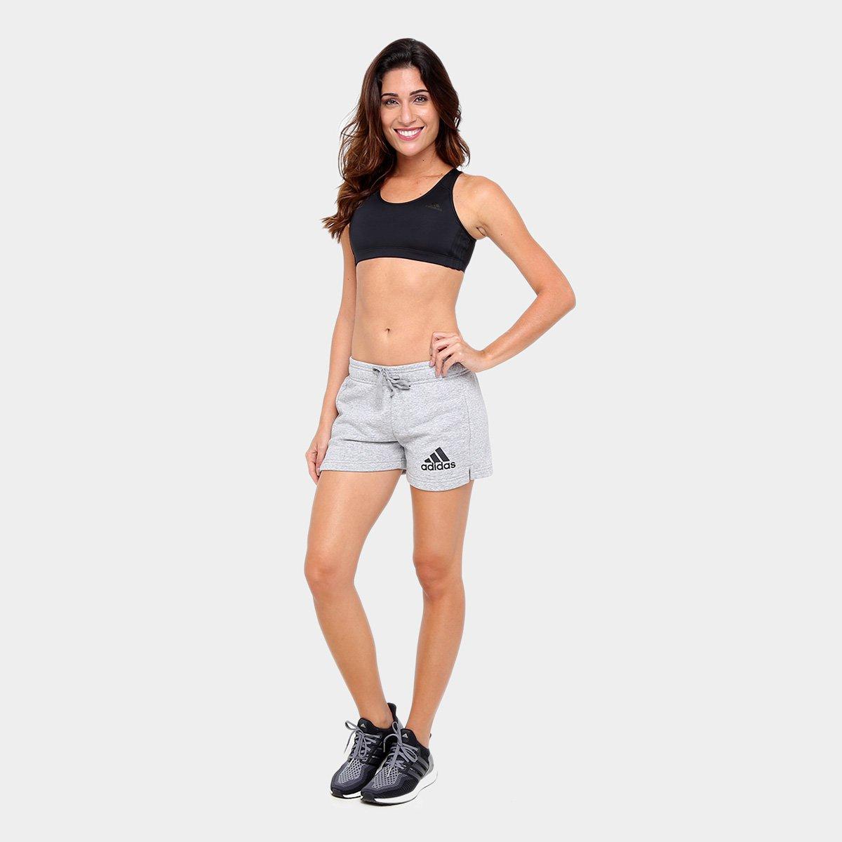 Short Adidas Ess Solid Feminino - Cinza - Compre Agora   Zattini 580576ff34