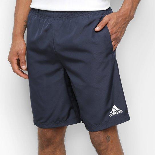 Short Adidas Plain Woven Masculino - Marinho+Branco