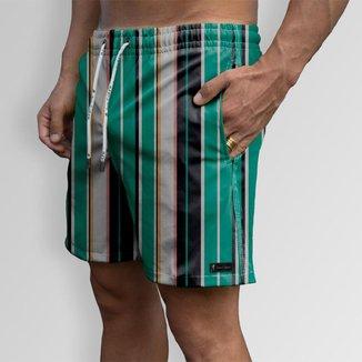 Short Bermuda Jon Cotre Listras  Masculino