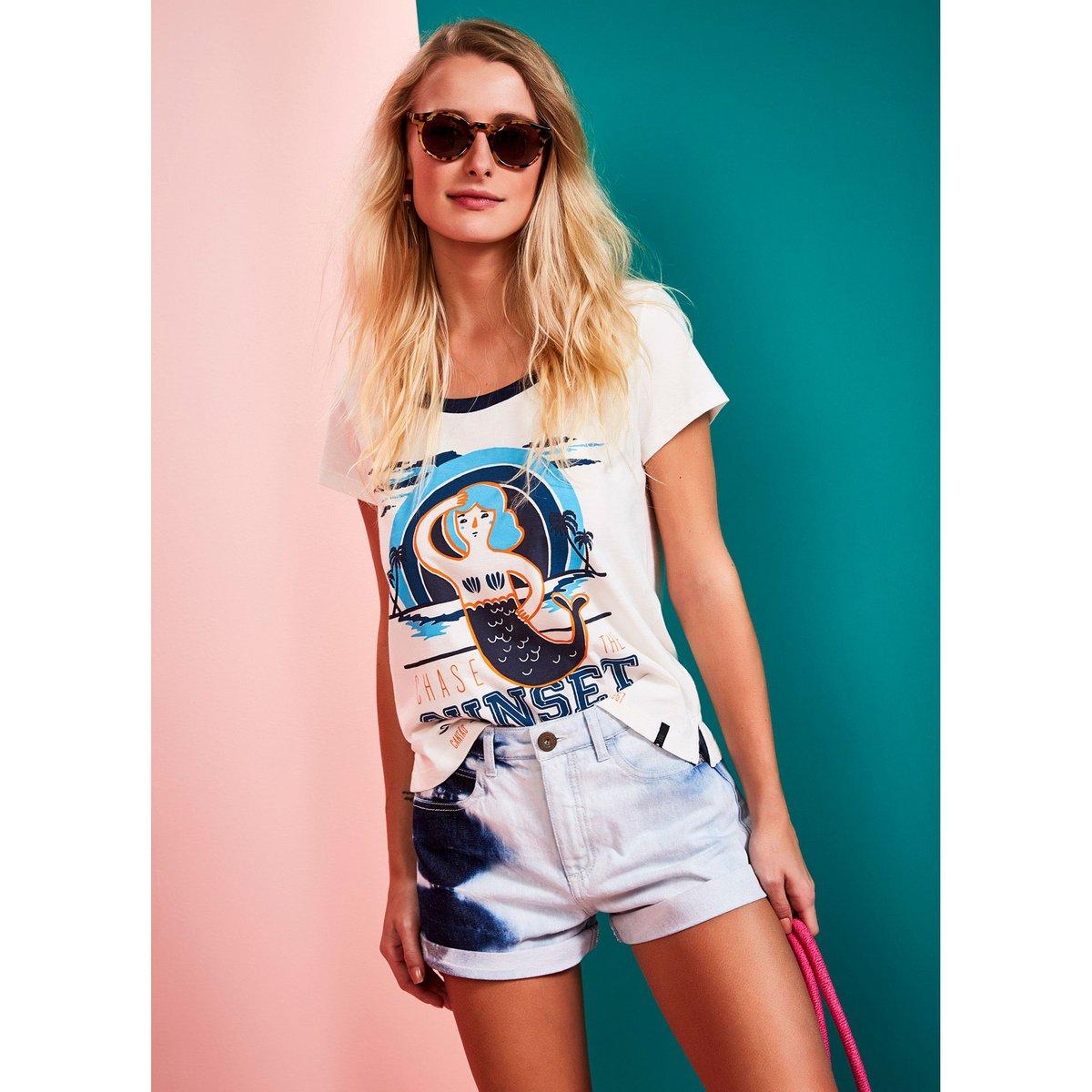 5f5dd3b07 Short Cantão Jeans Céu Feminino - Compre Agora   Zattini