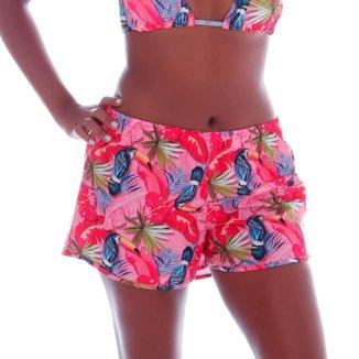Short Cecí Moda Praia Feminino