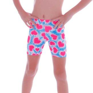Short Cecí Moda Praia Infantil Feminino