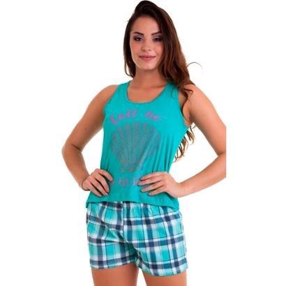 Short Doll Regata Feminino Em Algodão Luna Cuore-Feminino
