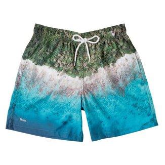 Short Estampado Praia Masculino Mash