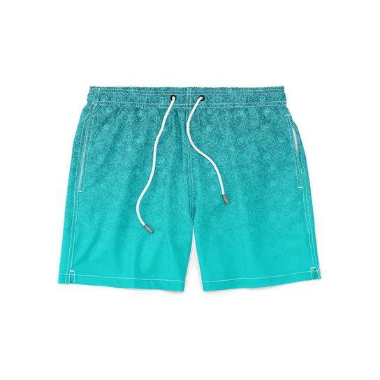 Short GIN TROPICAL Masculino Colors Moda Praia - Azul