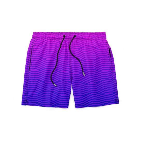 Short GIN TROPICAL Masculino Marine Moda Praia - Rosa