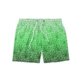 Short GIN TROPICAL Masculino Planta Moda Praia