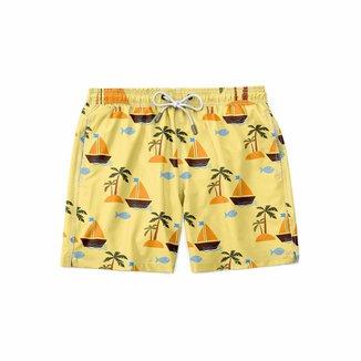 Short Gin Tropical Moda Praia Peixes Masculino
