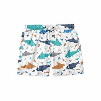 Short GIN TROPICAL Moda Praia Shark Masculino