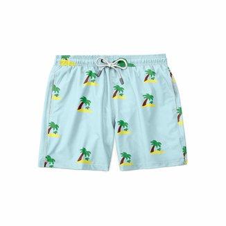Short Gin Tropical Moda Praia Summer Masculina