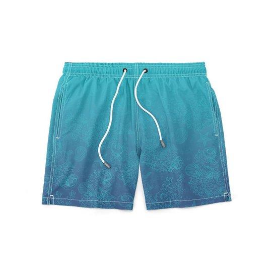 Short GIN TROPICAL Oceano Moda Praia Masculino - Azul