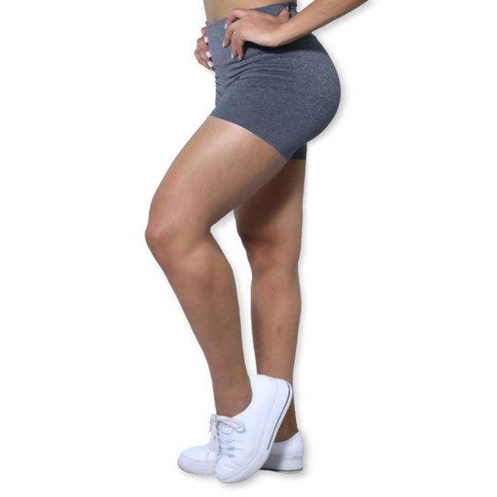 Short Heide Ribeiro Basic Fitness Feminino - Cinza