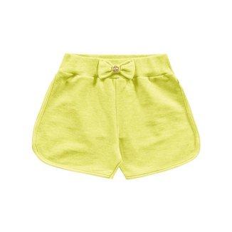Short Infantil, Amarelo Neon - Fakini