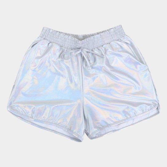 Short Infantil Costão Boxer Cirrê Feminina - Branco