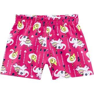 Short Infantil Feminino Kyly Cotton