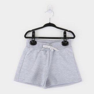 Short Infantil Kyly Básico Cordão Feminino