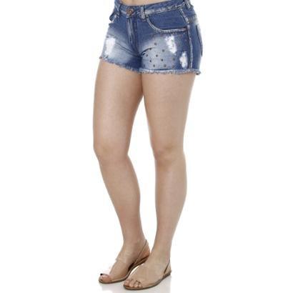 Short Jeans Amuage Feminino-Feminino