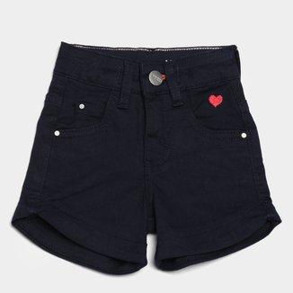 Short Jeans Bebê Malwee Comfort Feminino
