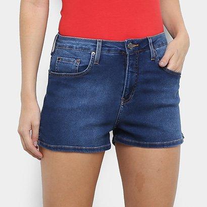 Short Jeans Calvin Klein Escuro Feminino