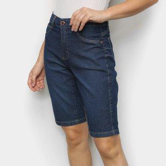 Short Jeans Cambos Ciclista Feminino