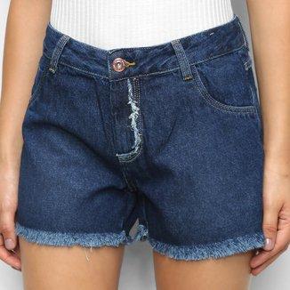 Short Jeans Cambos Desfiado Feminino