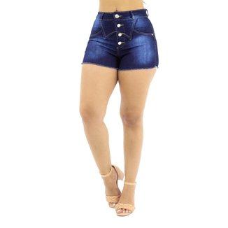 Short Jeans com Detalhe Frontal Feminino Revig