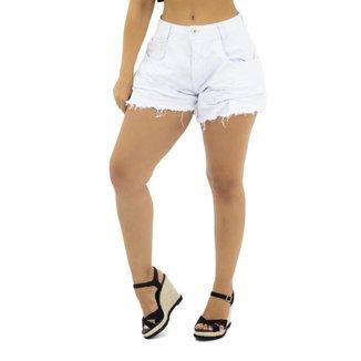 Short Jeans com Detalhe Frontal Sal e Pimenta Branco