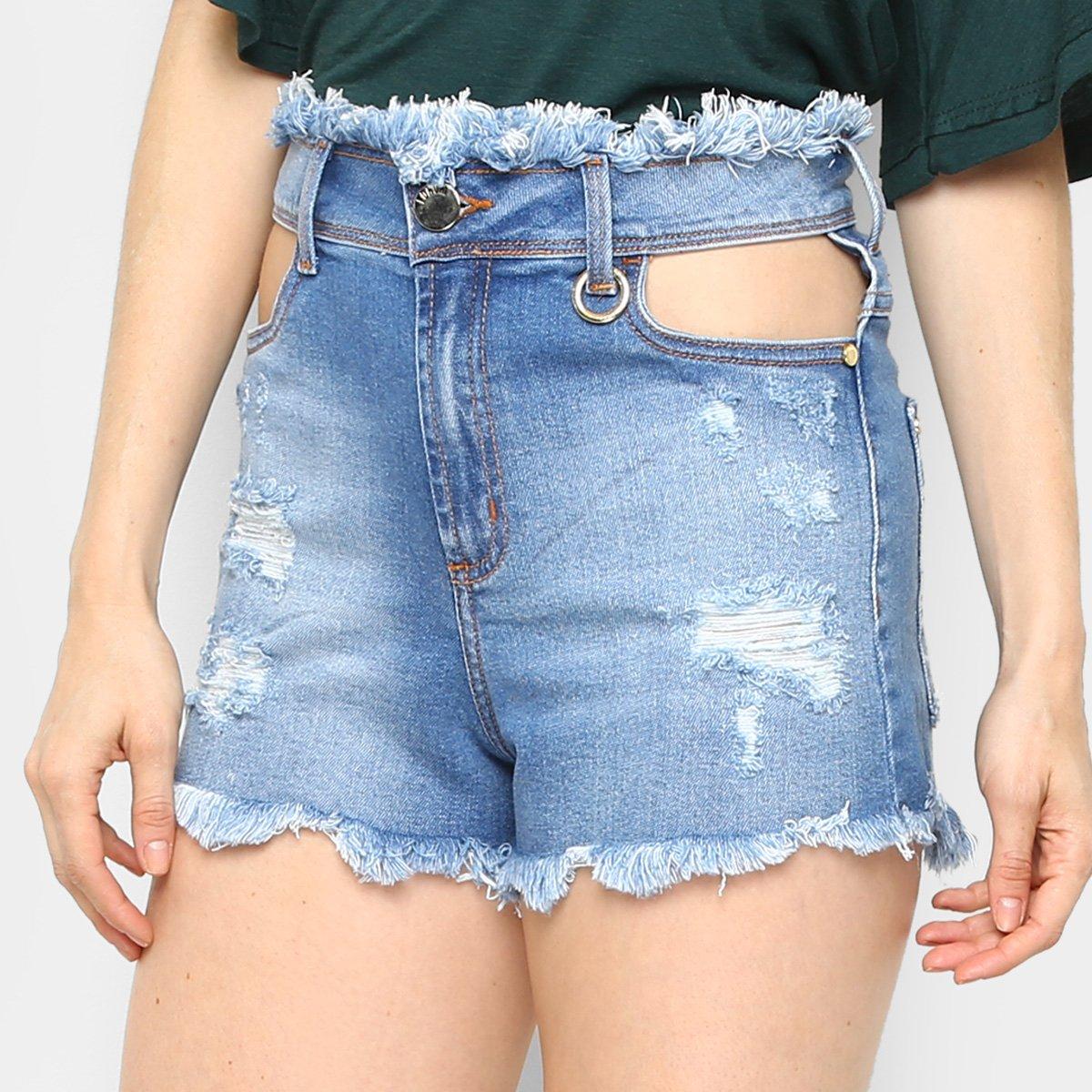 778f0eab6 Short jeans forum estonada barra desfiada feminino azul compre jpg 544x544  Short jeans barra desfiada