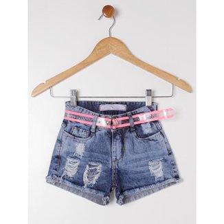 Short Jeans Imports Baby Infantil Feminino
