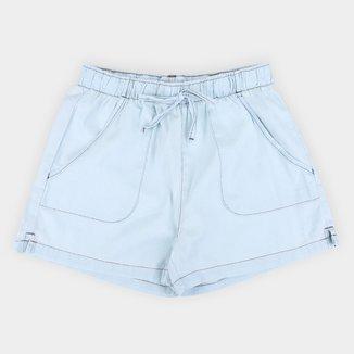 Short Jeans Infantil Hering Liso Feminino