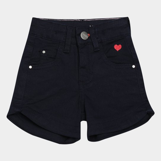 Short Jeans Infantil Malwee Comfort Feminino - Marinho