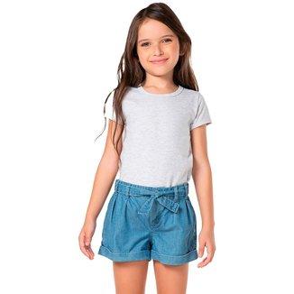 Short Jeans Infantil Mania Kids Feminino