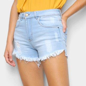 Short Jeans Just Denim Desfiado Feminino