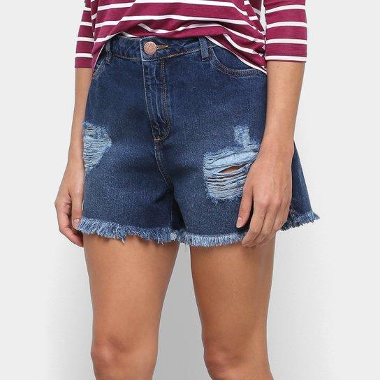 Short Jeans Malwee Comfort Feminino - Azul