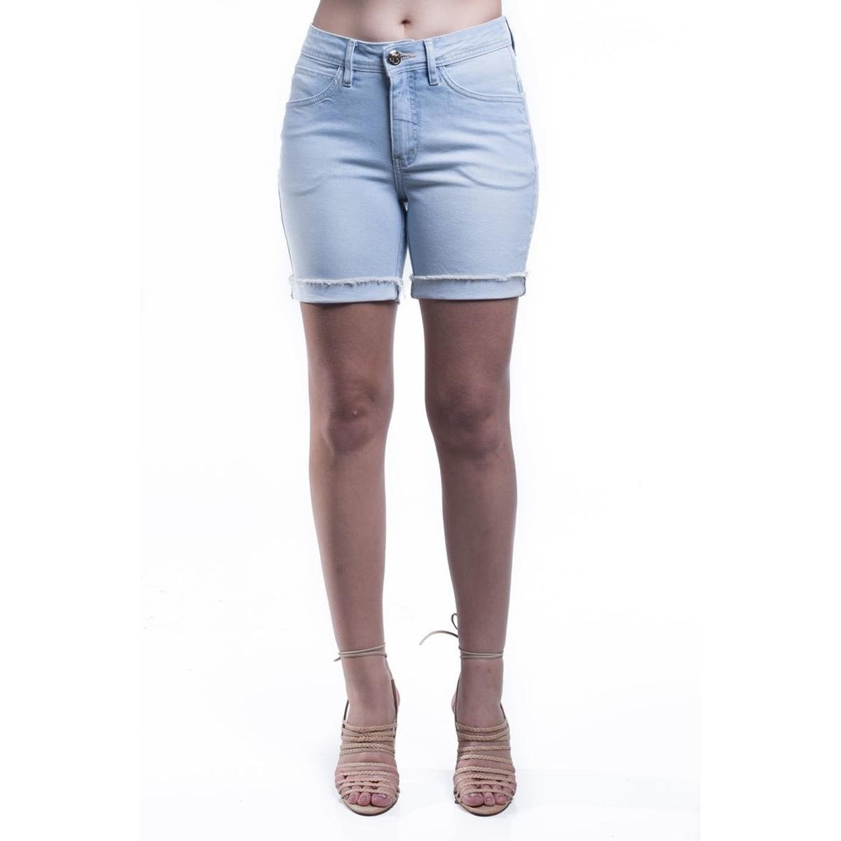 658ec0947 Short Jeans Osmoze Mid Rise Middle Feminino - Compre Agora
