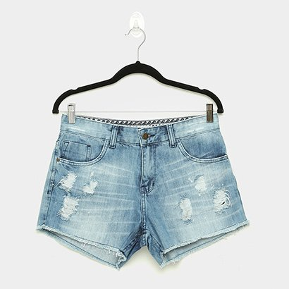 Short Jeans Roxy Be Fine Destroyed Feminino
