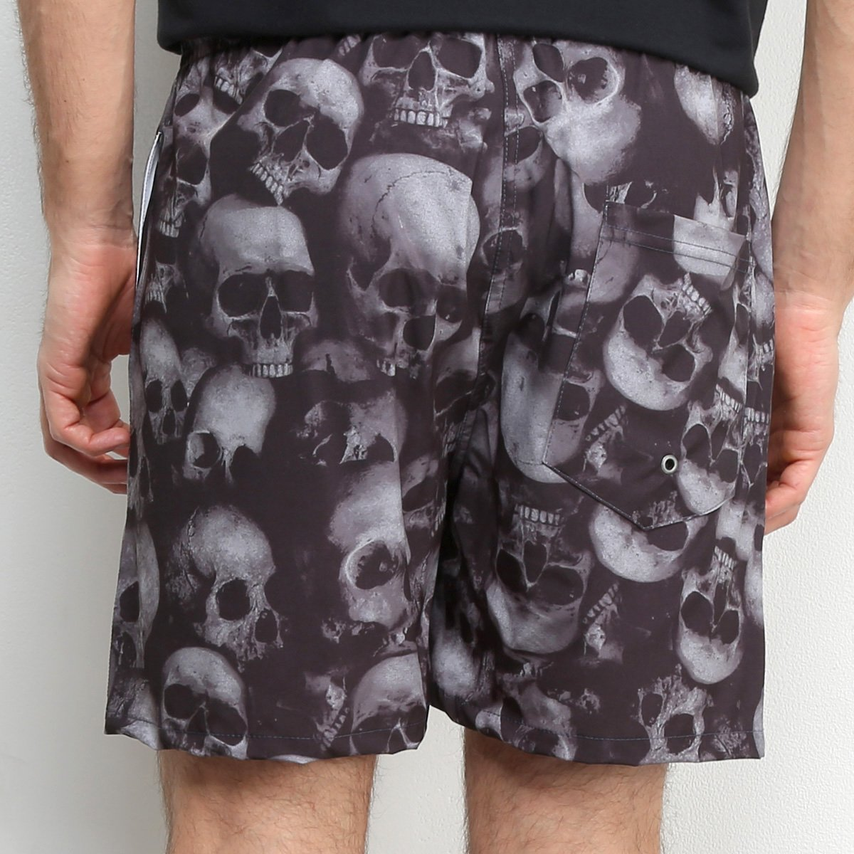 Short Kevland Black Skull Masculino - Cinza