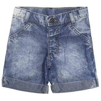 Short Look Jeans Barra Dobrada Jeans Masculino