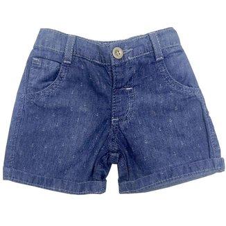 Short Look Jeans c/ Elástico Jeans Masculino