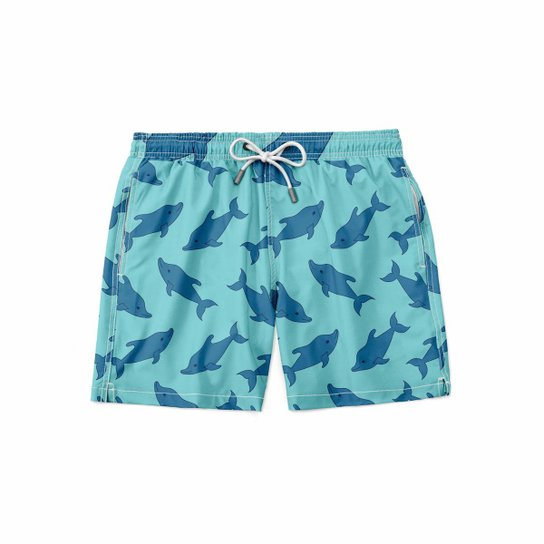 Short Maravs Moda Praia Fish Masculino - Azul