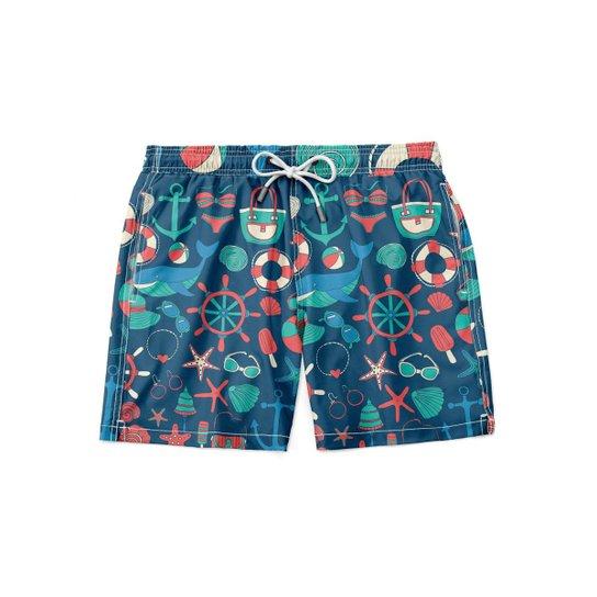 Short Maravs Moda Praia Masculino - Azul
