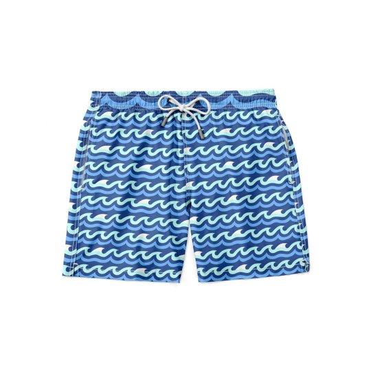 Short Maravs Moda Wave Praia Masculino - Azul