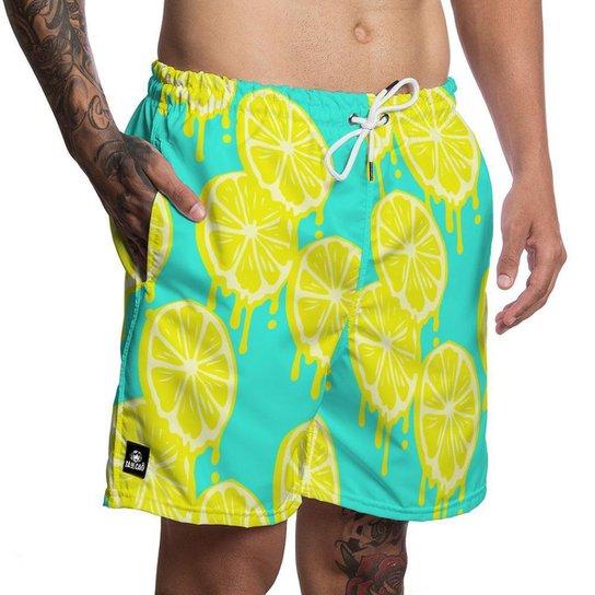 Short Masculino Moda Praia Tá De Caô - Verde