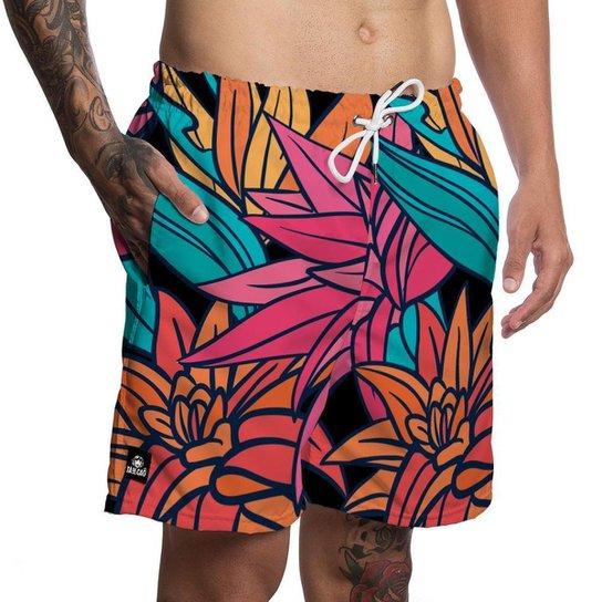 Short Masculino Moda Praia Tá De Caô - Colorido