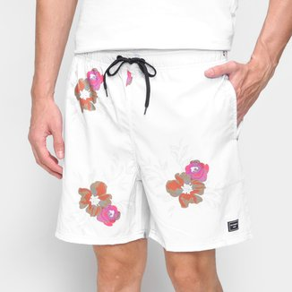 Short Natural Art Black Rose Masculino