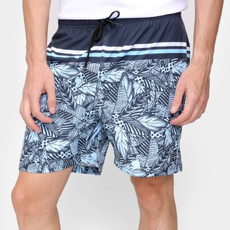 Short Natural Art Volley Palm Beach Masculino