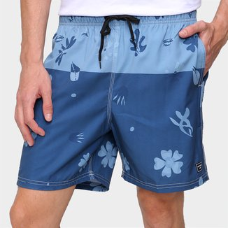 Short Natural Art Volley Trevo Masculino