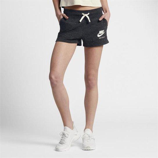 Short Nike Gym Vintage Feminino - Preto